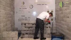 Comment Lessiver Un Mur : construire un mur avec les blocs en b ton youtube ~ Dailycaller-alerts.com Idées de Décoration