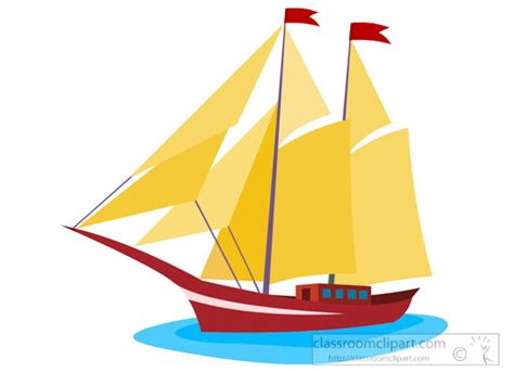 Clipart Boats And Ships by Boats And Ships Clipart Sailing Boat With Sails Clipart