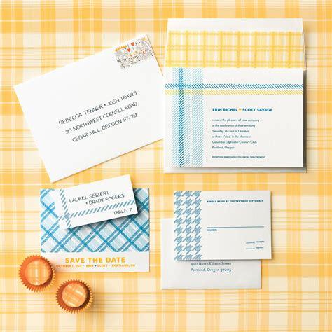 fabric inspired wedding invitations martha stewart weddings