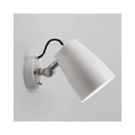 astro 1224012 atelier matt white adjustable wall light