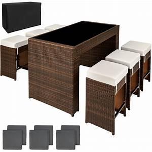 Rattan Bar Set : luxury rattan aluminium bar set with 6 barstools garden furniture outdoor wicker ebay ~ Indierocktalk.com Haus und Dekorationen