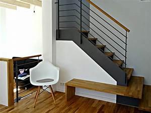 Stahl Holz Treppe : moderne treppe aus stahl holz mit integrierter bank modern wohnzimmer berlin von smg ~ Markanthonyermac.com Haus und Dekorationen