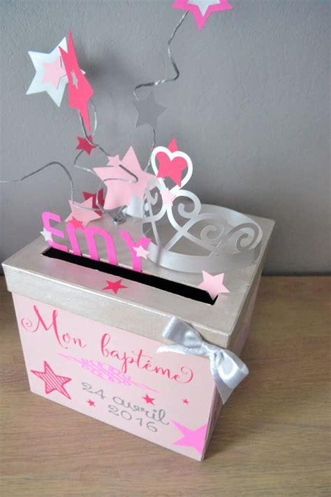 urne de bapteme rose  grise autres papeterie par