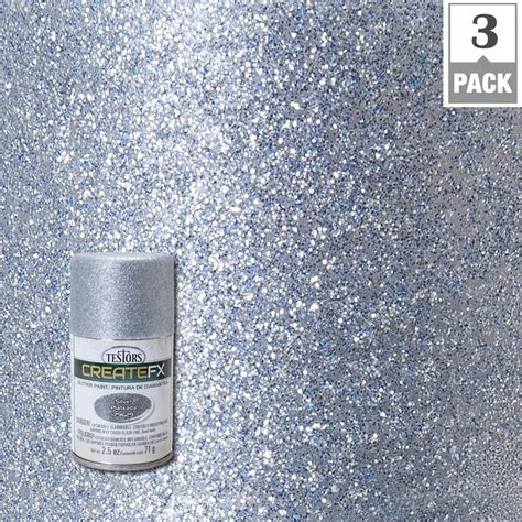 testors createfx  oz silver glitter spray paint
