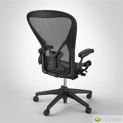 aeron chair by herman miller 3d model max obj fbx