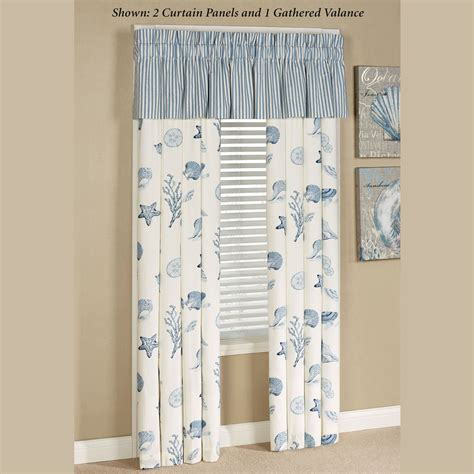 treasures by sea blue coastal window treatment