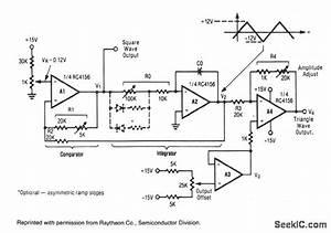 triangle square wave generator signal processing With triangle squarewave generator