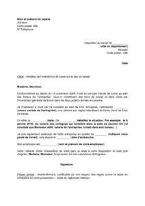 lettre de motivation bureau de tabac exemple gratuit de lettre demande application interdiction fumer dans lieux travail un salari 233 224