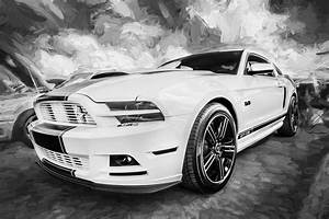 2014 Ford Mustang Gt Cs Painted Bw Photograph by Rich Franco