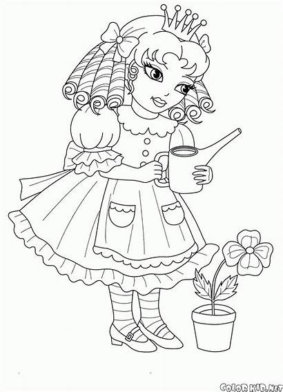 Coloring Alina Princess Colorkid