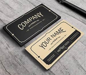 25 cool psd retro vintage business card templates for Retro business card template