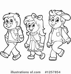 Going To School Clipart Black And White | www.pixshark.com ...