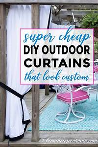 How, To, Make, Inexpensive, Diy, Outdoor, Curtains, That, Look, Custom