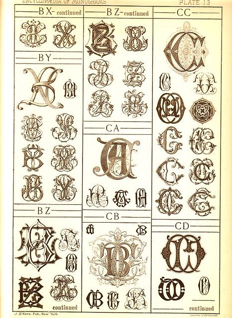 antique page  monograms     single pages  flickr