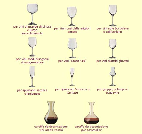 bicchieri per i bicchieri vini tortora arte buon azienda