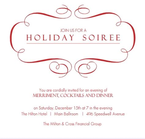 corporate holiday invitation for parties from purpletrail