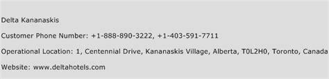 delta customer service phone delta kananaskis customer service number toll free phone