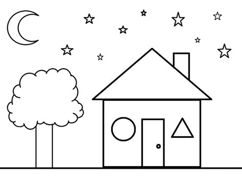 shapes coloring pages getcoloringpagescom