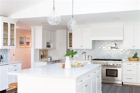 Kitchen Desk Backsplash Ideas by Glazed Subway Tile Backsplash Design Ideas