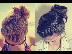 Cool Braided Hairstyles For Medium Hair by Braided Bun Updo Tutorial For And Medium Hair