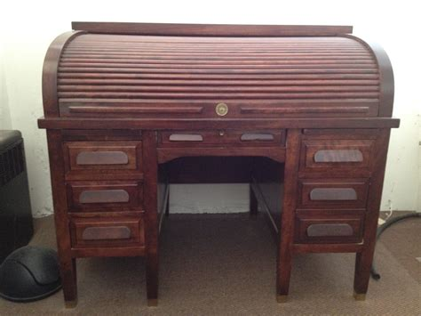 antique mahogany roll top desk 1940 39 s standard mahogany roll top desk for sale antiques