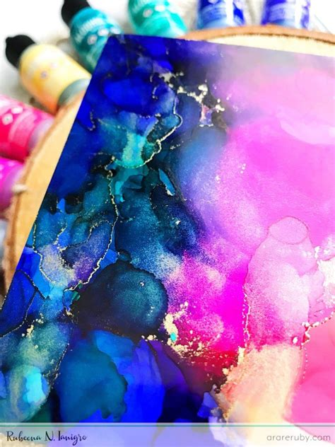 colorful alcohol ink backgrounds winnie walter