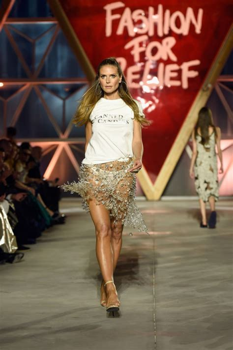 Heidi Klum Fashion For Relief Event The Cannes