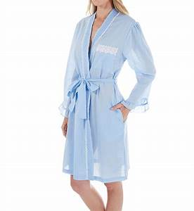 eileen west chambray short wrap robe 5116048 eileen west With robe chambray