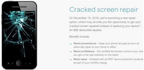 att iphone insurance at t adds iphone screen repair service for monthly