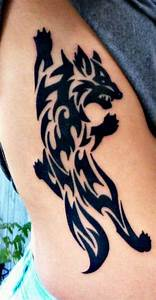 Tribal Wolf Tattoo : 40 tribal wolf tattoo design ideas 2018 ~ Frokenaadalensverden.com Haus und Dekorationen