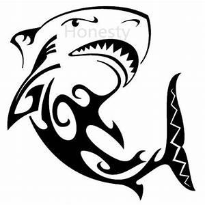 Shark Angry Tribal Silhouette Wall Home Glass Window Door
