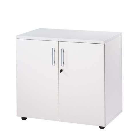 armoire basse de bureau armoire de bureau basse 2 portes blanche ineo beaux