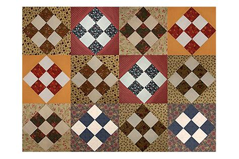 easy country  patch scrap quilt block pattern