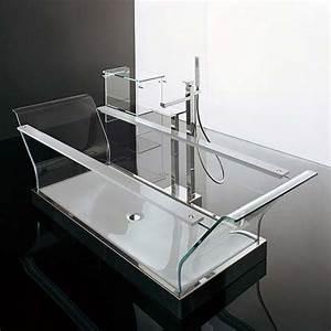 Fully Transparent Glass Bathtub From Novellini