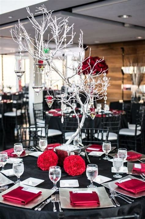powerful red and black wedding d 233 cor ideas