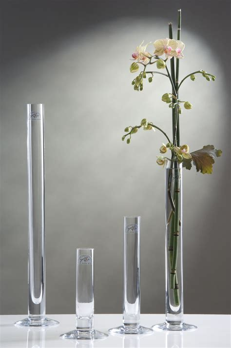 Schmale Hohe Vase by Glasvase Blumenvase Schmale Glas Vase Mit Fu 223 40 Cm Ebay