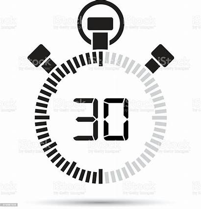 Thirty Second Timer Illustration Vector Number Countdown