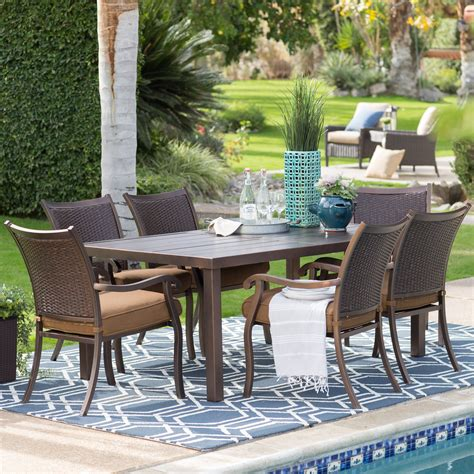 Patio Dining Furniture Sale by Belham Living San Marino Patio Woven Back Dining Chair And