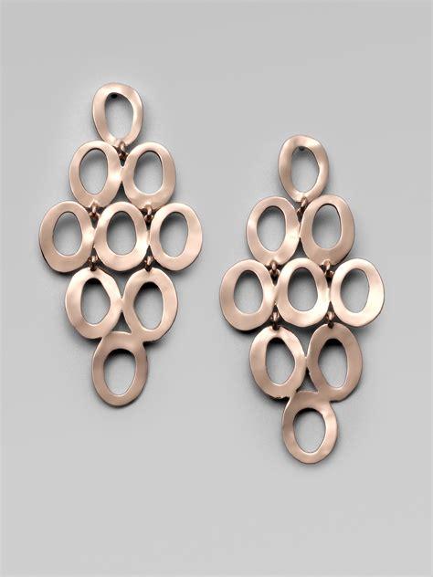 Ippolita Rose Carino Open Cascade Earrings in Pink