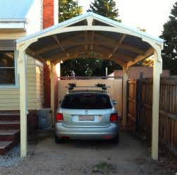 Image of: Bullnose Verandah Construction Timber Outdoor Living Considerations On Choosing The Safest Carport Designs
