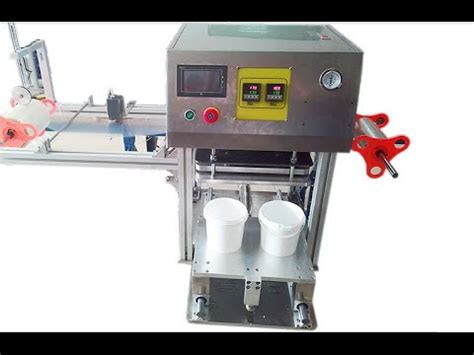 semi automatic plastic jar sealing machine manual lid cover sealer cup machine  sceller youtube