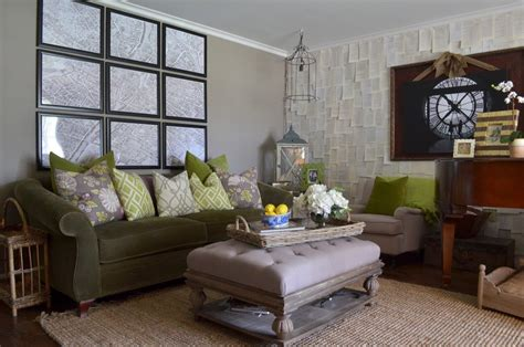 Large Living Room Ottoman by Large Ottoman Living Room Eclectic With Wall