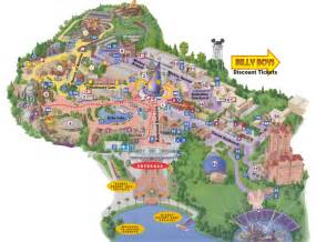Hollywood Studios Orlando Park Map
