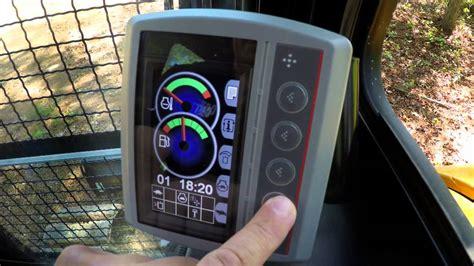 cat mini excavator compass monitor full demo youtube