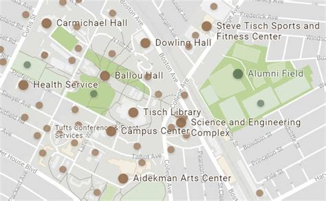 Tufts Medford Campus Map.Hall Ma Miller Tufts University Medford Campus Map