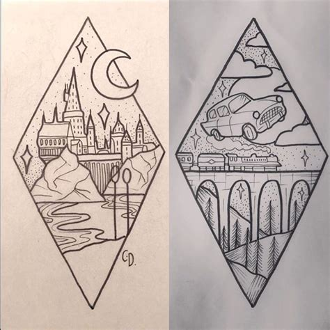 harry potter tattoo ideas bodyartillusions dessin