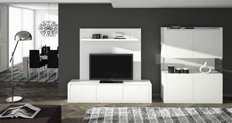 mueble de salon blanco lacado muebles xikara