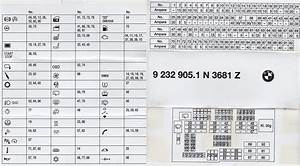 E89 Fuse Box Map    Reference
