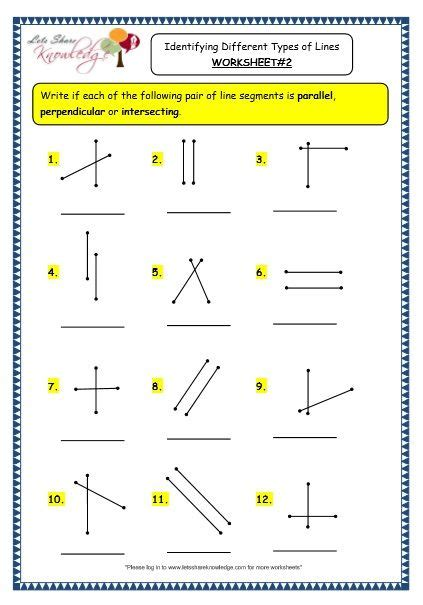 grade  maths worksheets  geometry identifying