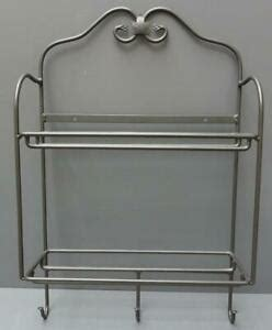 longaberger foundry collection wrought iron  tier envelope wall rack   hooks ebay